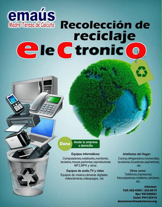 Emaús Madre Teresa de Calcuta Perú - Reciclar Objetos Electrónicos ...